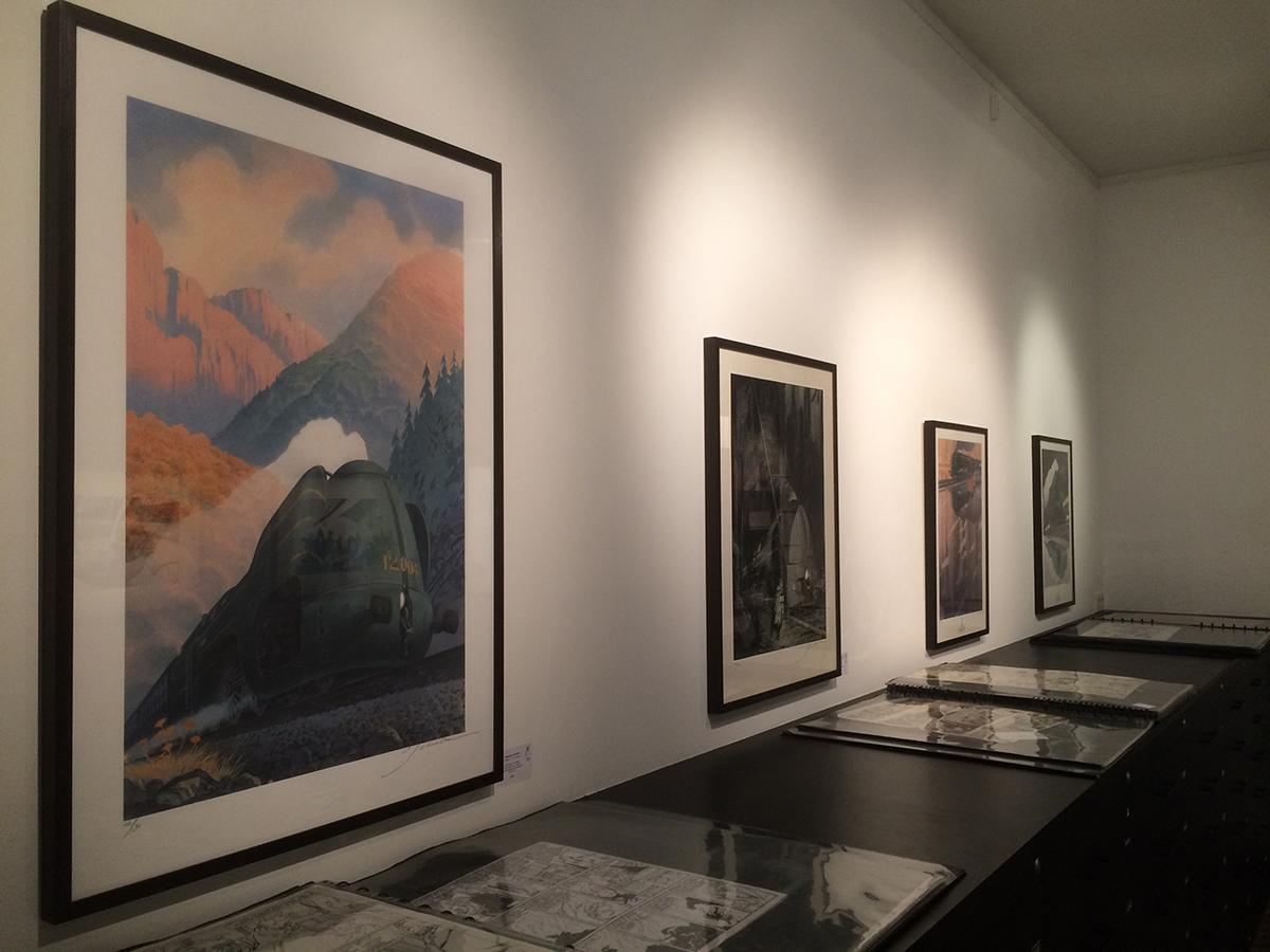 Expo Schuiten&Obolensky - Trains à la Galerie Huberty&Breyne