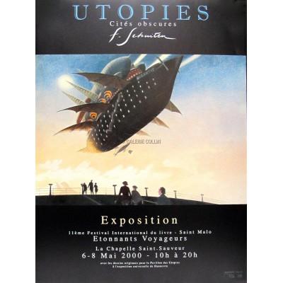 Utopie - Affiche d'exposition 'Etonnants Voyageurs'