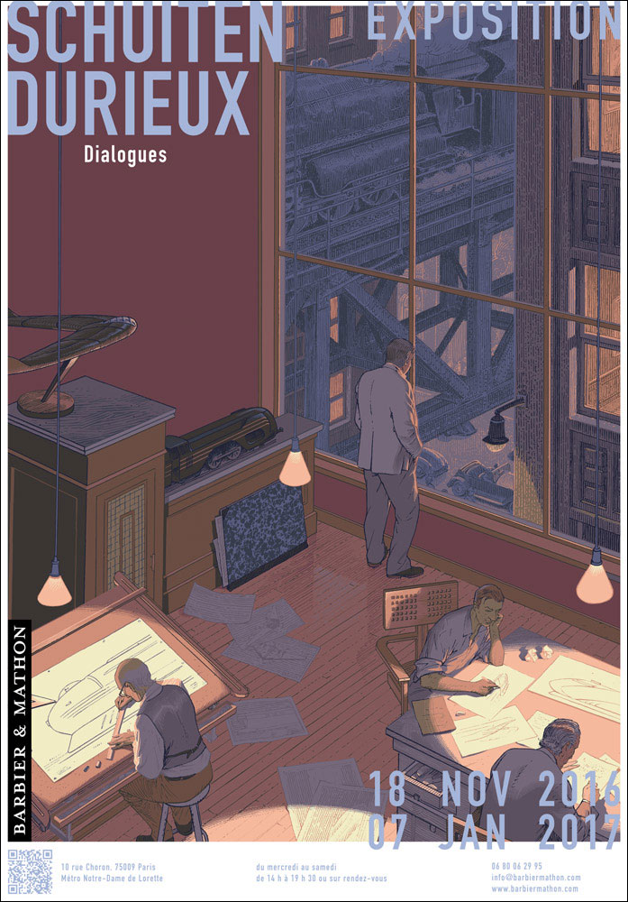 Affiche de l'expo Dialogues de Schuiten&Durieux