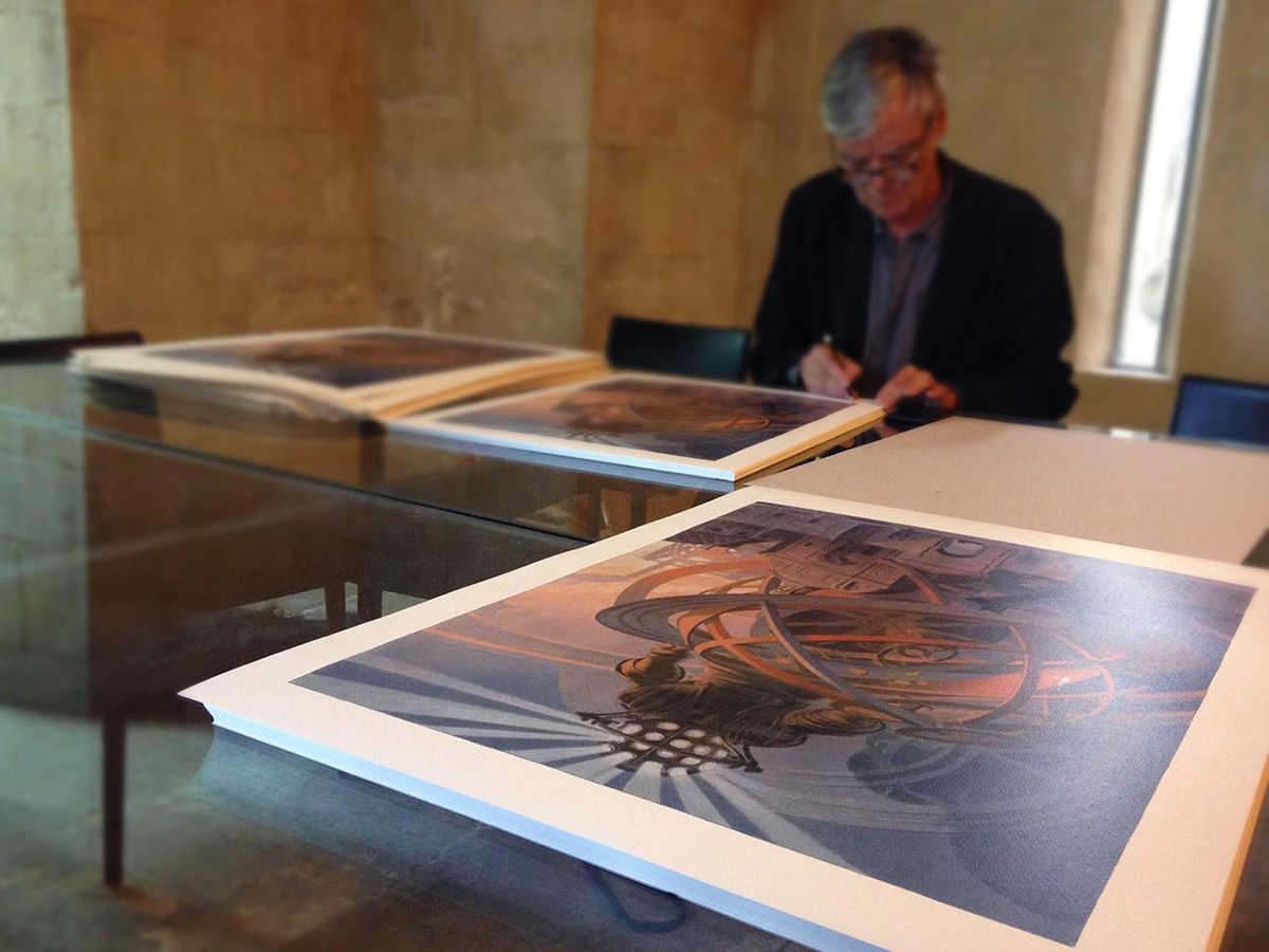 Machines à dessiner - Signature des offsets par F. Schuiten