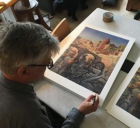 Un artiste dans la ville - Tirage offset